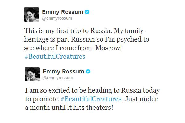 ■ [ Sublimes Créatures ]  Emmy et Alden en Russie pour faire la promo du film