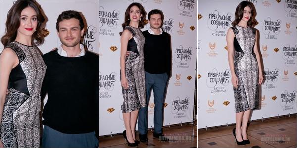 ■ [ Sublimes Créatures ]  Alden et Emmy en Russie pour la promo du film - 19 Janvier