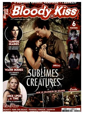 ■ [ Sublimes Créatures ]  Un premier magazine français consacre sa une au film !
