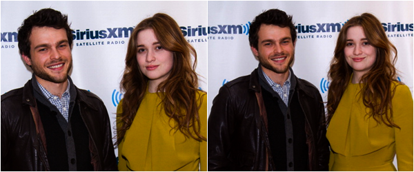 ■ [ Sublimes Créatures ]  Celebrities Visit SiriusXM Studios - New York12 Février - Alden & Alice
