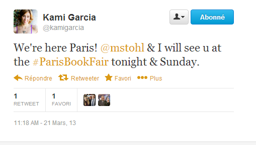 ■ [ Sublimes Créatures ]  Premiers Tweets des auteurs en France !