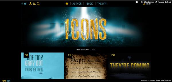 ■ [ Margaret Stohl ]  Découvrez le site officiel de Icons, la nouvelle saga de Margaret