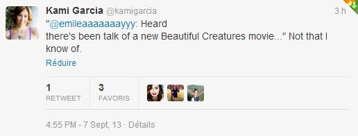 ■ [ Sublimes Créatures ]  Kami dément la sortie d'un autre film