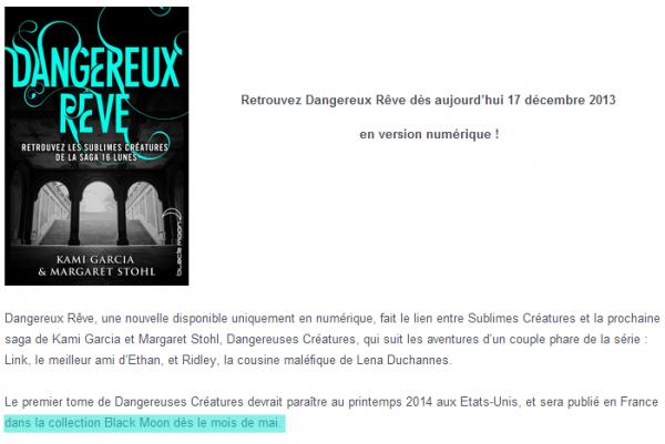 ■ [ Dangereuses Créatures ]  Plus d'infos sur la sortie française de Dangerous Creatures !
