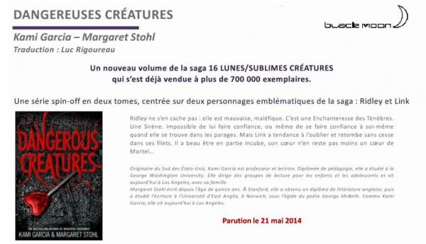 ■ [ Dangereuses Créatures ]  Sortie Française