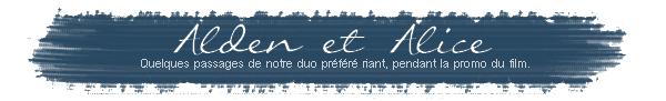 ■ [ Sublimes Créatures  ]  Alden Ehrenreich & Alice EnglertNotre duo préféré riant ensembles pendant la promotion du film