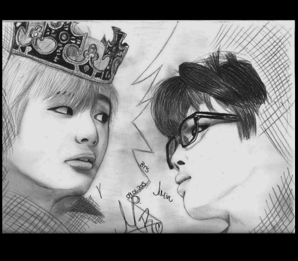 Dessin Signe Mr Bts Kim Taehyeong X Park Jimin Written By Mr
