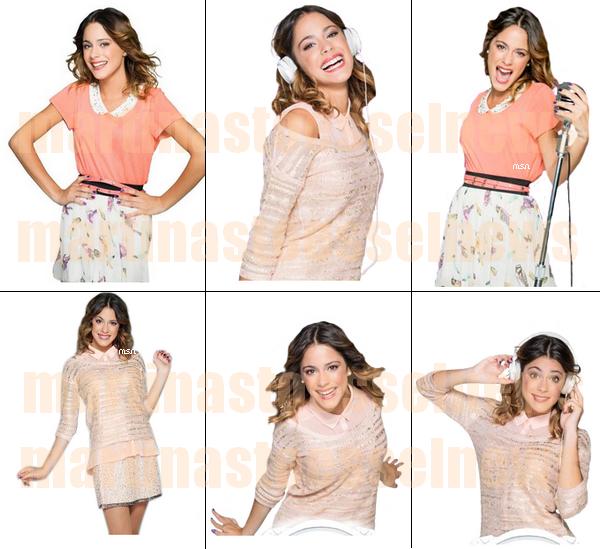 (Re)Deécouvrez six nouvelles photos promotionelles de Violetta saison 2 : Martina est magnifique sur ce shoot. Et voici deux scans de mag où Martina aparet. Vos opignons ?