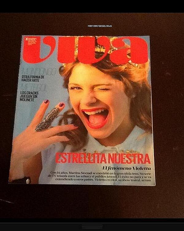 """. Martina Stoessel pour le magazine """"VIVA"""".   ."""