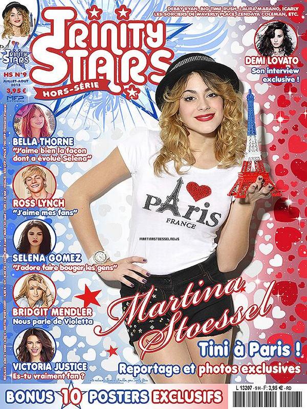 . Martina Stoessel apparaît dans le Trinity Stars de Juillet/Août. .