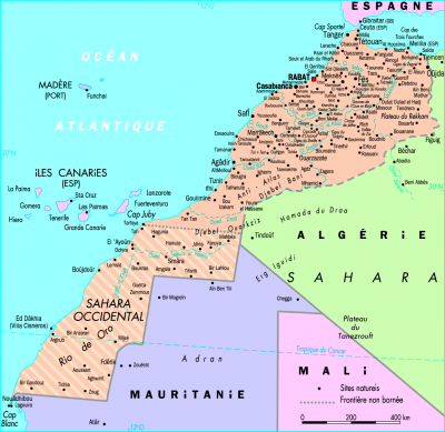 Où se trouve le Sahara Occidental ?