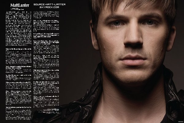 """Scan de l'interview de Matt pour """" MF Magazine """" du mois de Janvier.  Cliquez sur la photo pour voir l'interview en plus grand ( anglais ) Ton Avis ?"""