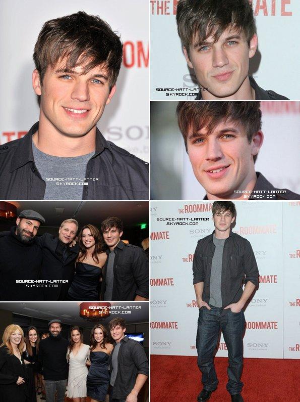"""Le 23 janvier 2011. Matt était à la première de son film """" The Roommate """" à Los Angeles. Il à pris quelque photo au coté de Leighton Meester ou encore Daneel Harris. Alors sur ce coup il à pas assuré le Matt ! C'est la Première de son film quand même ! Il aurait pus faire un petit effort vestimentaire, vous pensez pas ?"""