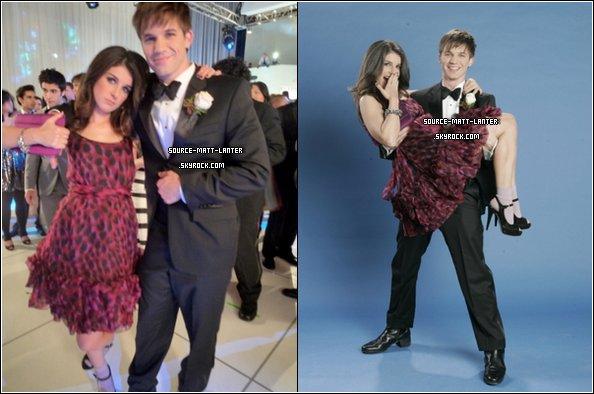 """Le 23 Fevrier 2011. De nouvelle photo de Matt et Shenae Grimes sur le tournage de 90210. En ce qui me concerne, je suis maintenant totalement pour le couple """"Lannie"""", pas toi ? Ne sont-ils pas mignons ?"""