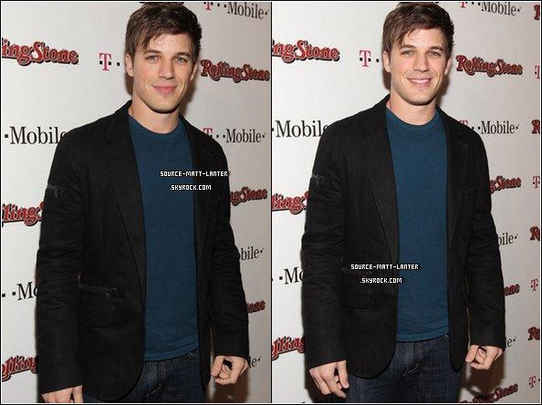 """Le 26 Février 2011. Matt était au """"Peter Travers And Editors Of Rolling Stone Host Awards Weekend Bash"""" avec Jessica Lowndes. Shena Grimes et Trevor Donovan étaient présents eux aussi. Ton Avis ?"""