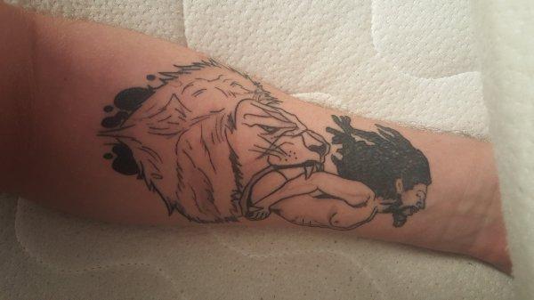 voilà mon nouveau tatouage