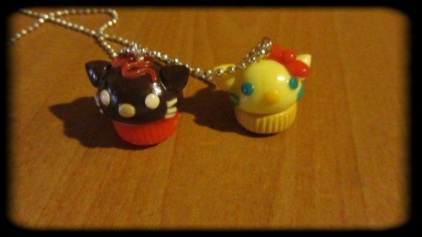 Deux belle kitty cupcakes de ma chère Deanna j'en suis love ;p