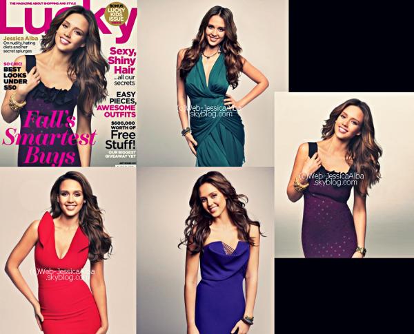 Le 02 Août 2011 Des photos du Lucky Magazine ont apparus Mardi . La couverture est très jolie et le shoot également ! Je vous laisse vous faire une idée ! De plus, Jessica est sortie avec Honor faire des courses le même jour ! Article rédigé par Sandra.