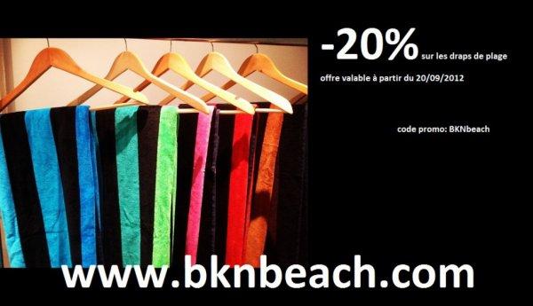 -20% sur les draps de bain