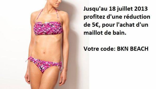 BKN BEACH vous offre 5¤ à l'achat d'un maillot de bain.
