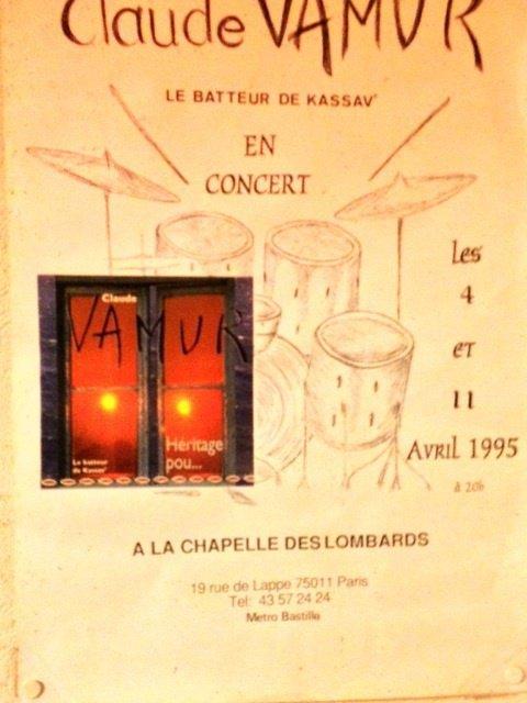Une affiche, que j'ai réalisée , pour la promotion de l'album Héritage Pou, du batteur Claude VAMUR ...