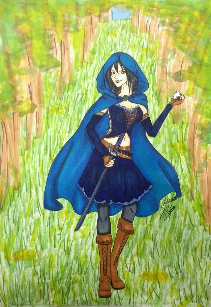 Le petit chaperon bleu canard