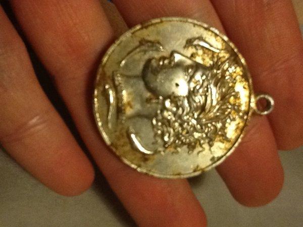Médaille tête de nymphe arethuse