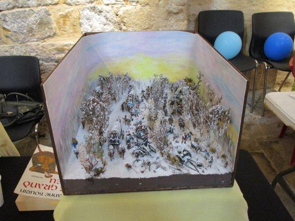 Le Briviste André expose des dioramas sur la guerre , il lui faut 1 an pour en réaliser un  !