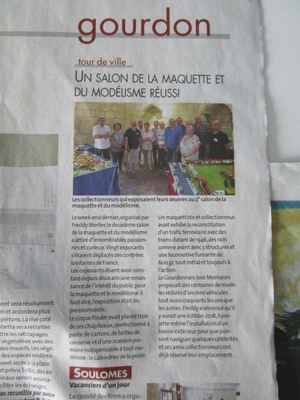Aujourd'hui dans la presse !!!