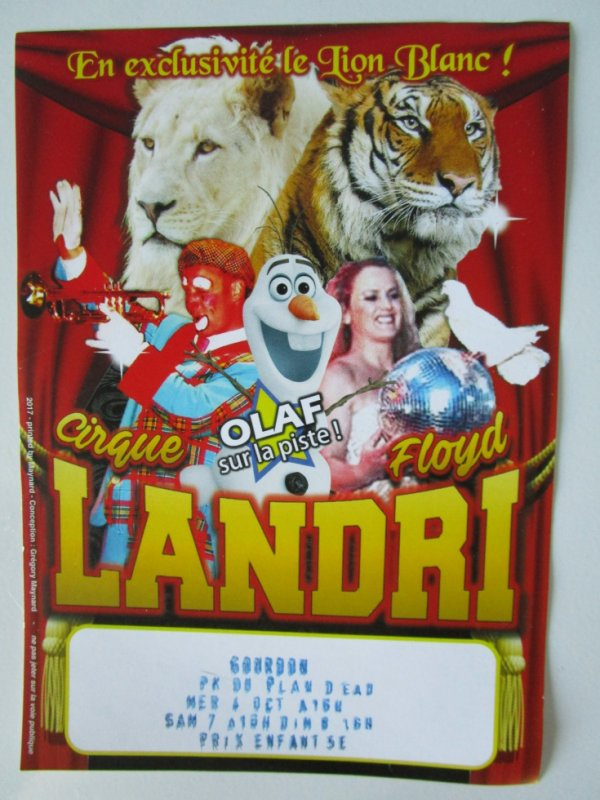 Cirque Floyd Landri , le flyer !!!