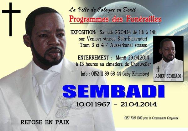 Hommage à Fr. Sembadi Que son âme répose en paix