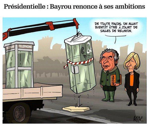 . Présidentielle :   Bayrou renonce à ses ambitions