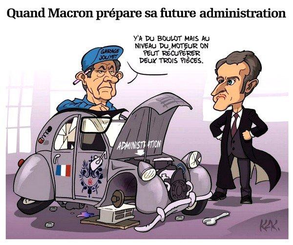 Quand Macron prépare sa future administration (170511)