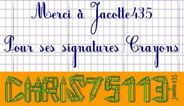 Merci à Jacotte