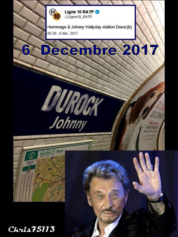 Six Décembre 2017 -- Décès de notre Johnny National