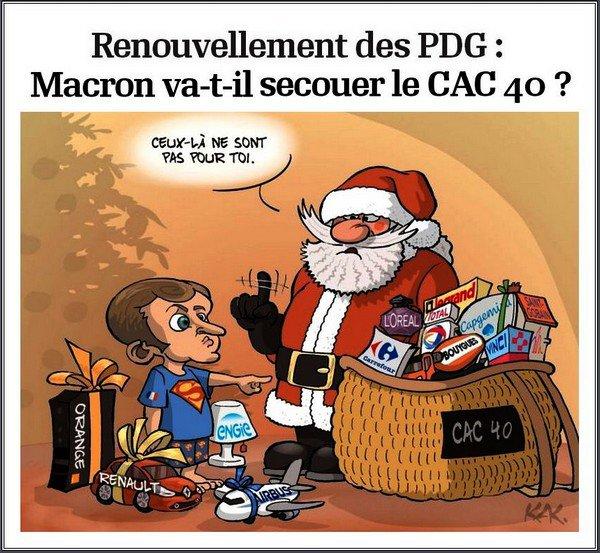 171218 Renouvellement des PDG -- Macron va-t-il secouer le CAC 40 ?