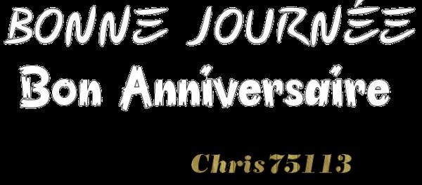 En ce 27 Mars 2018, c'est l'Anniversaire de Papinou82