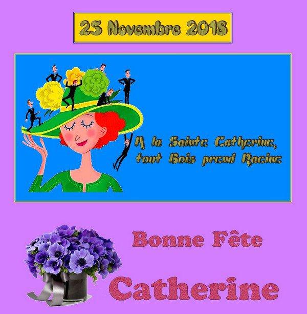 -- 25 NOVEMBRE 2018 -- Bonne Fête CATHERINE