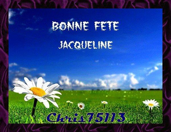 -- Huit Février 2019 -- C'est la Sainte Jacqueline --
