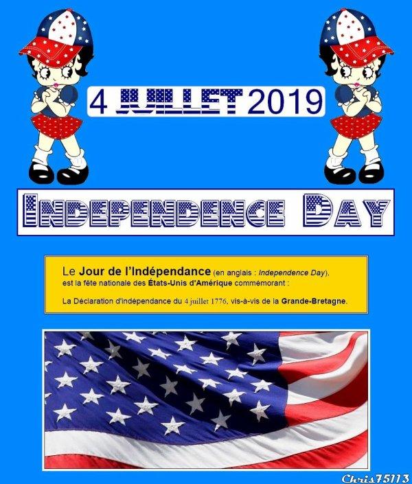 -- 4 Juillet 1776 -- Indépendance des États Unis d'Amérique --