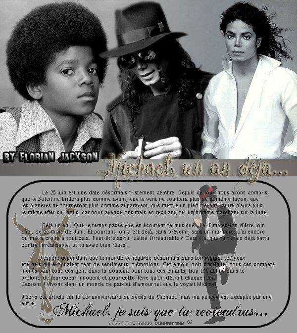 ___Période Hommage / Année 10___________________________'____________Michael, un an déjà...___