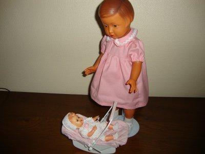lisette et son bébé .