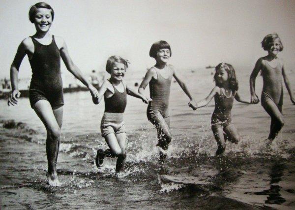une dernière baignade,les vacances se terminent .........