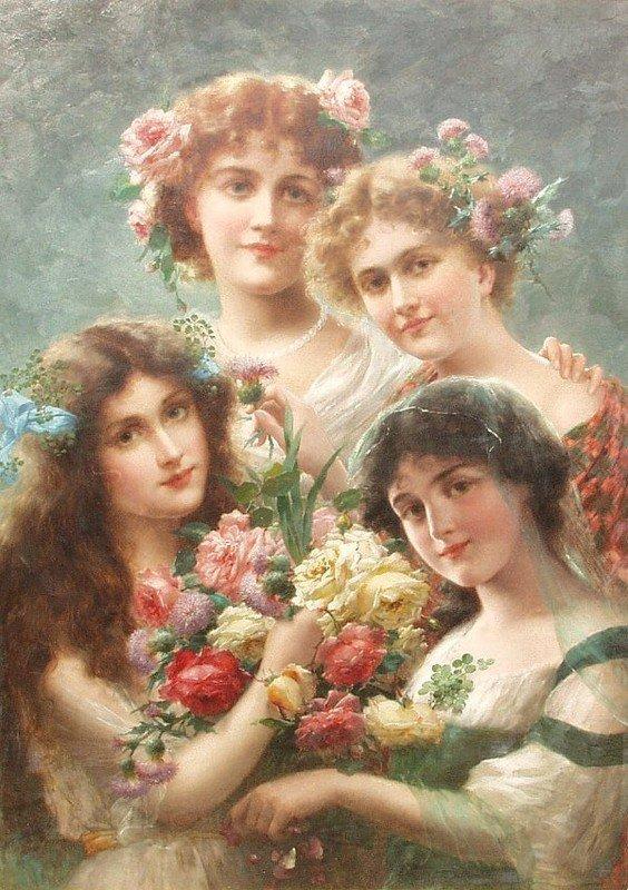 """"""" Belles"""" peintes par Emile Vernon ."""
