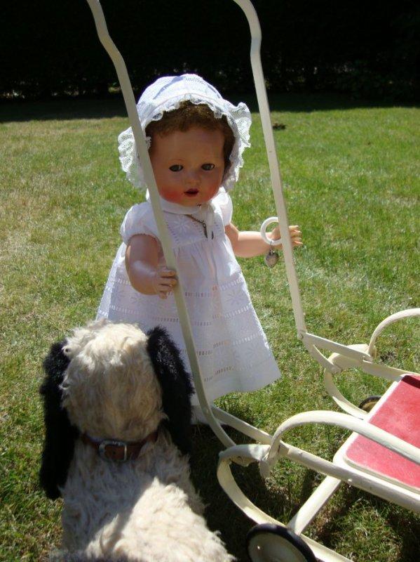 promenade au jardin avec Bobbi le chien ....