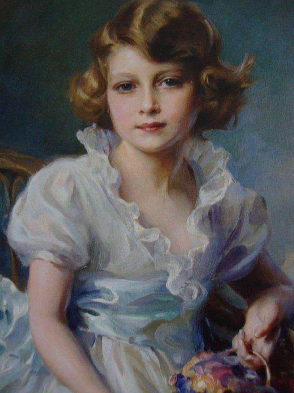 Joli portrait d Élisabeth enfant. Difficile de s imaginer que cette petite fille a 90 ans aujourd'hui.