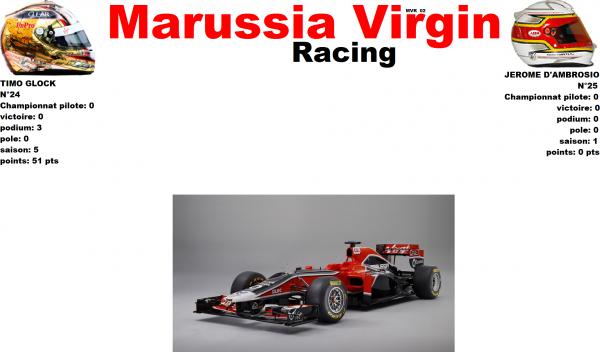 MARUSSIA VIRGIN RACING MVR 02