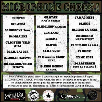 MICROPHONE CHECK Vol.1 en téléchargement gratuit le 14 Février 2011 !!