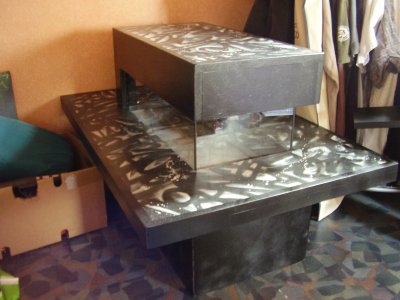 table basse aquarium graffiti thibault r artiste peintre l 39 a rosol. Black Bedroom Furniture Sets. Home Design Ideas