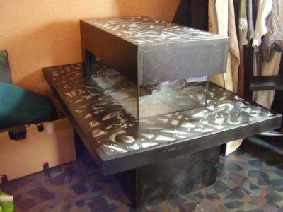 Table basse aquarium graffiti thibault r artiste peintre - Table basse bio ethanol ...